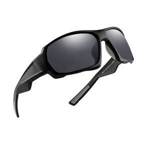 Unisex Fashion Black Low Light Polarized Cycling Sunglasses